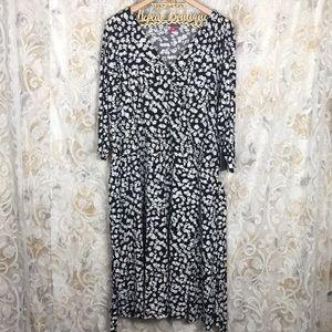 Vince Camuto Leopard Animal Print Wrap dress 3x